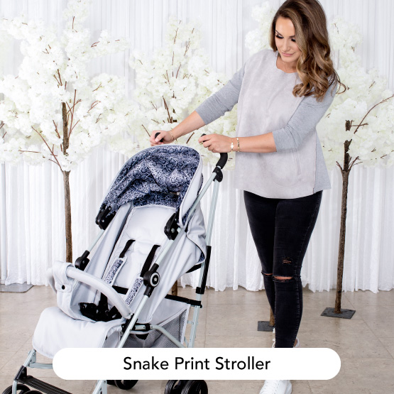 Grey Snake Print Stroller - Dreamiie by Samantha Faiers